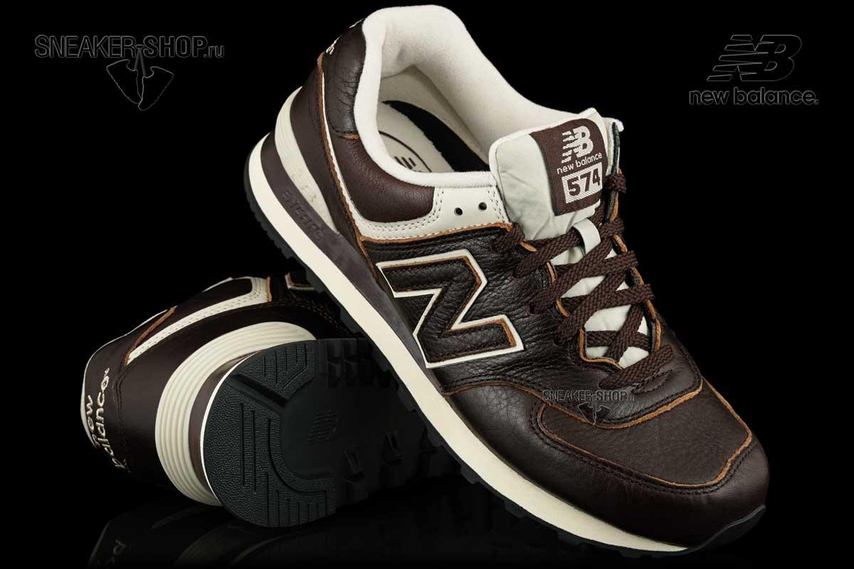 official photos 2471a 8443a Кроссовки New Balance ML574LUA Leather купить в интернет ...
