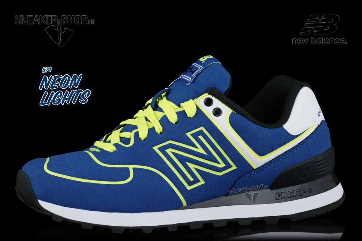 Женские кроссовки New Balance WL574NEB Neon Pack купить в интернет ... 8322b848ec